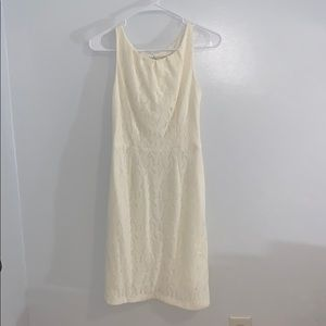 Nine & Co. cream dress with lace size 4